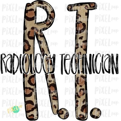 Radiology Technician RT Leopard Sublimation Design | Sublimation | Hand Drawn Art | Nursing PNG | Medical Art | Digital Download | Art Clipart