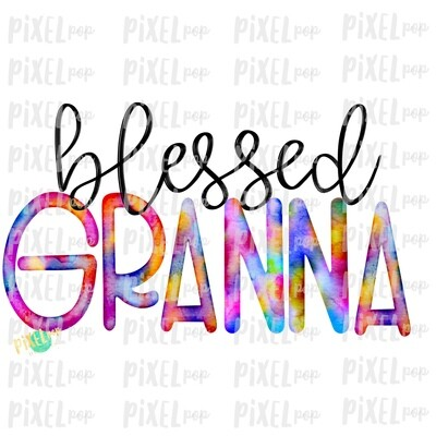 Blessed Granna Watercolor Mother's Day Sublimation Design PNG | Hand Drawn PNG | Sublimation PNG | Digital Download | Printable Art | Art