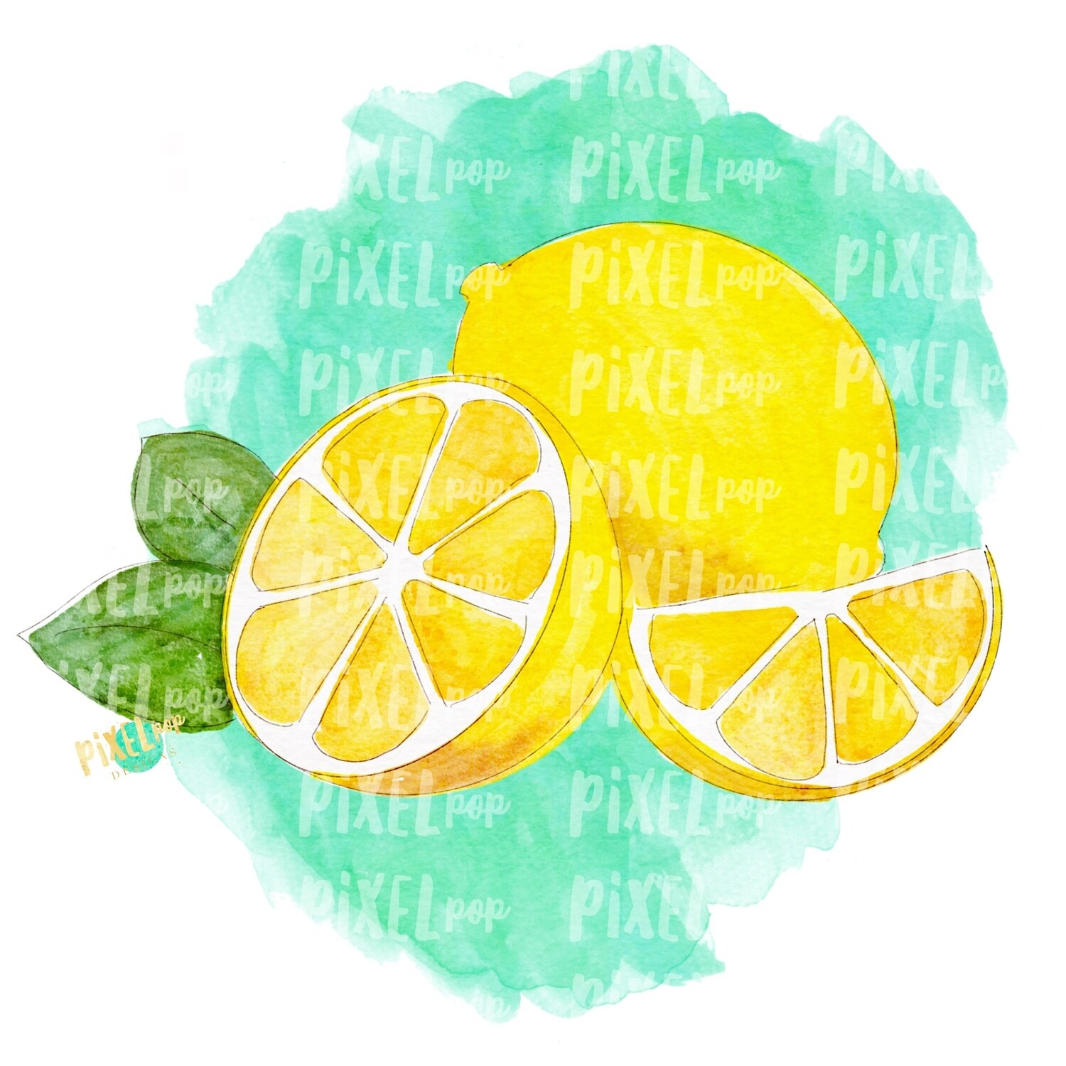 Lemons Watercolor PNG | Lemons | Lemonade | Hand Painted Digital | Sublimation PNG | Digital Download | Printable Art | Clip Art