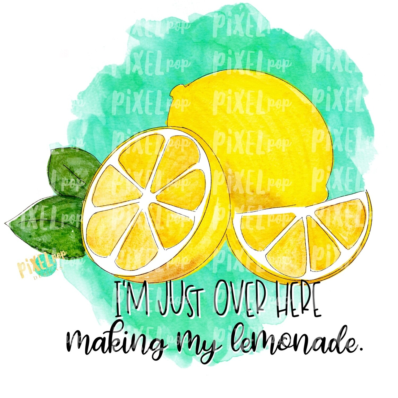 Making Lemonade Watercolor PNG | Lemons | Lemonade | Hand Painted Digital | Sublimation PNG | Digital Download | Printable Art | Clip Art