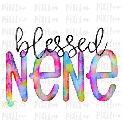 Blessed Nene Watercolor Mother's Day Sublimation Design PNG | Hand Drawn PNG | Sublimation PNG | Digital Download | Printable Art | Clip Art