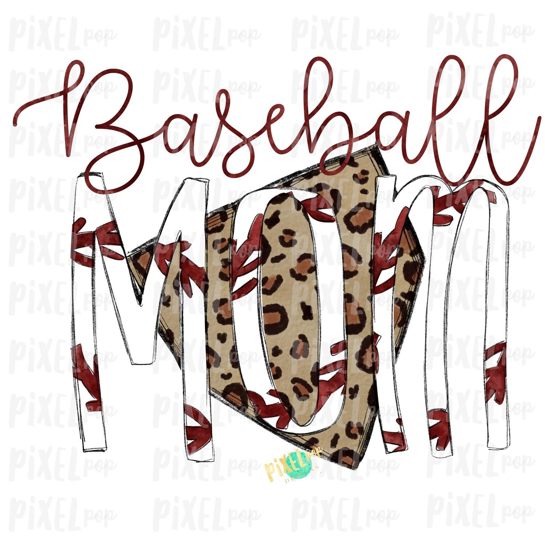 Baseball Mom Leopard Home Plate Sublimation PNG Design | Baseball Design | Sublimation Design | Heat Transfer | Digital Download | Printable Artwork