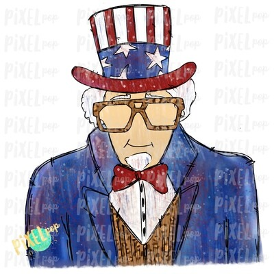 Funky Leopard Uncle Sam Sublimation Heat Transfer Design PNG | Hand Drawn | Sublimation PNG | Digital Download | Printable Art | Clip Art