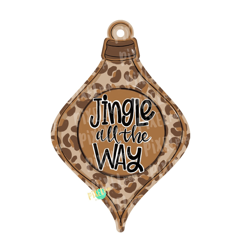 Ornament Jingle All the Way PNG   Sublimation Design   Ornament Design   Printable   Digital Download   Hand Painted Digital Art