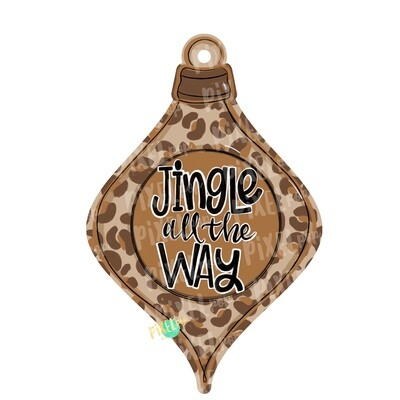 Ornament Jingle All the Way PNG | Sublimation Design | Ornament Design | Printable | Digital Download | Hand Painted Digital Art