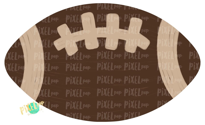 Football Brown Cream PNG | Football | Hand Painted Digital | Sublimation PNG | Football Design | Football Art | Football Blank | Sports Art