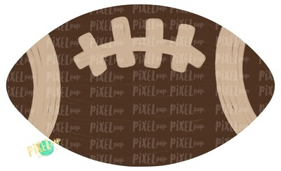 Football Brown Cream PNG | Football | Hand Painted Digital | Sublimation PNG | Football Design | Football Art | Football Blank | Sports Art