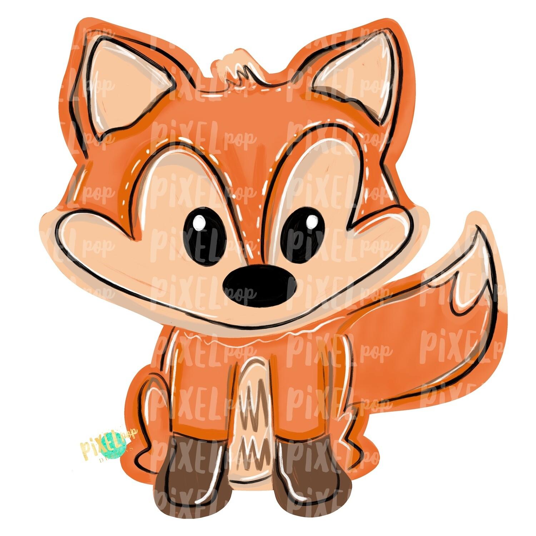 Fox PNG | Sublimation Design | Hand Painted Design | Woodland Design | Animal Art | Fox Design | Fox Clip Art | Fox Digital | Animal Art