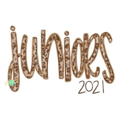 Juniors Leopard Cream Design | Freshmen 2021 | School PNG| Hand Drawn PNG | Sublimation PNG | Digital Download
