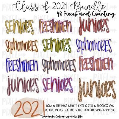 Class of 2021 Grade Names BUNDLE - 58 FILES - Freshmen | Sohpomores | Juniors | Seniors