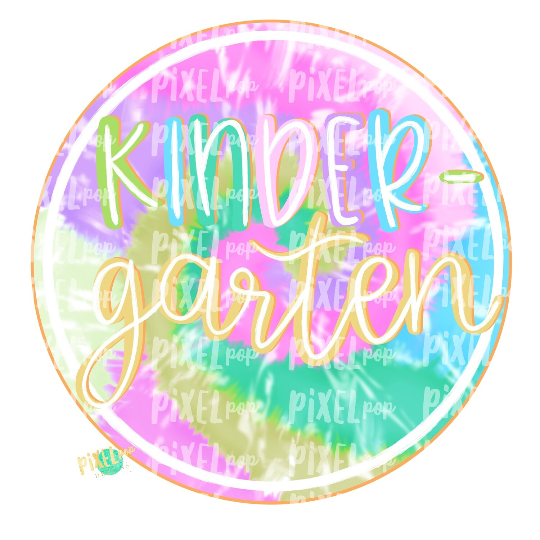 Kindergarten Tie Dye PNG Design | School Design | Sublimation | Digital Art | Hand Painted | Digital Download | Printable Artwork | Art