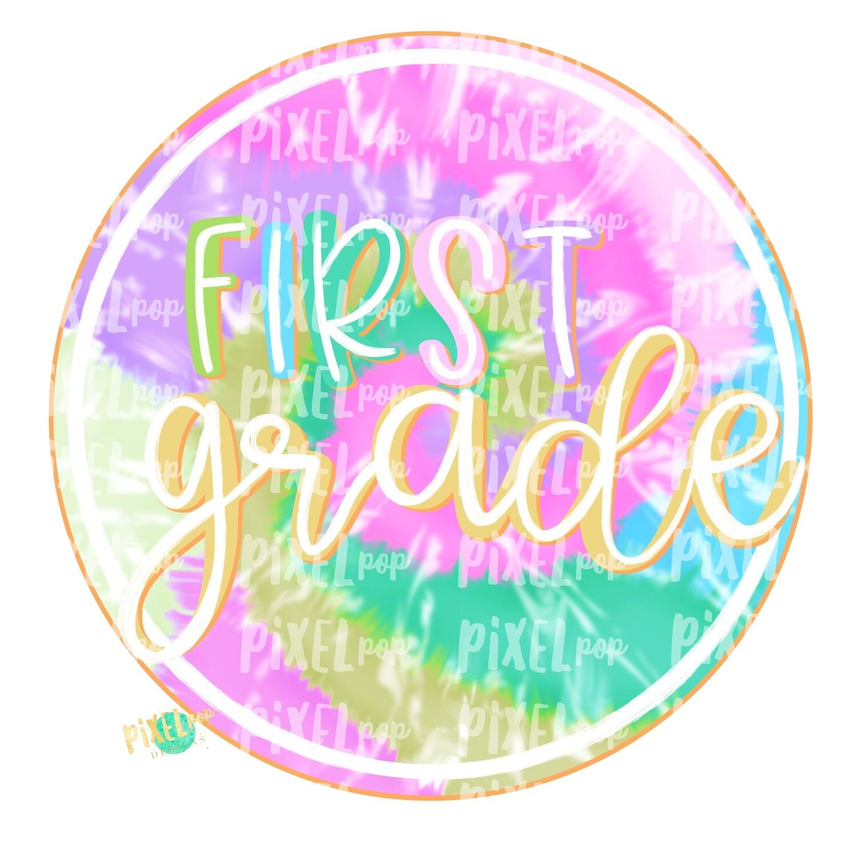 First Grade Tie Dye PNG Design | School Design | Sublimation | Digital Art | Hand Painted | Digital Download | Printable Artwork | Art