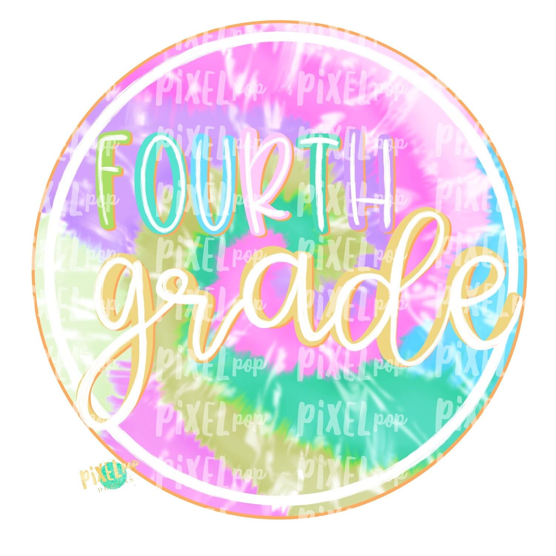 Fourth Grade Tie Dye PNG Design | School Design | Sublimation | Digital Art | Hand Painted | Digital Download | Printable Artwork | Art