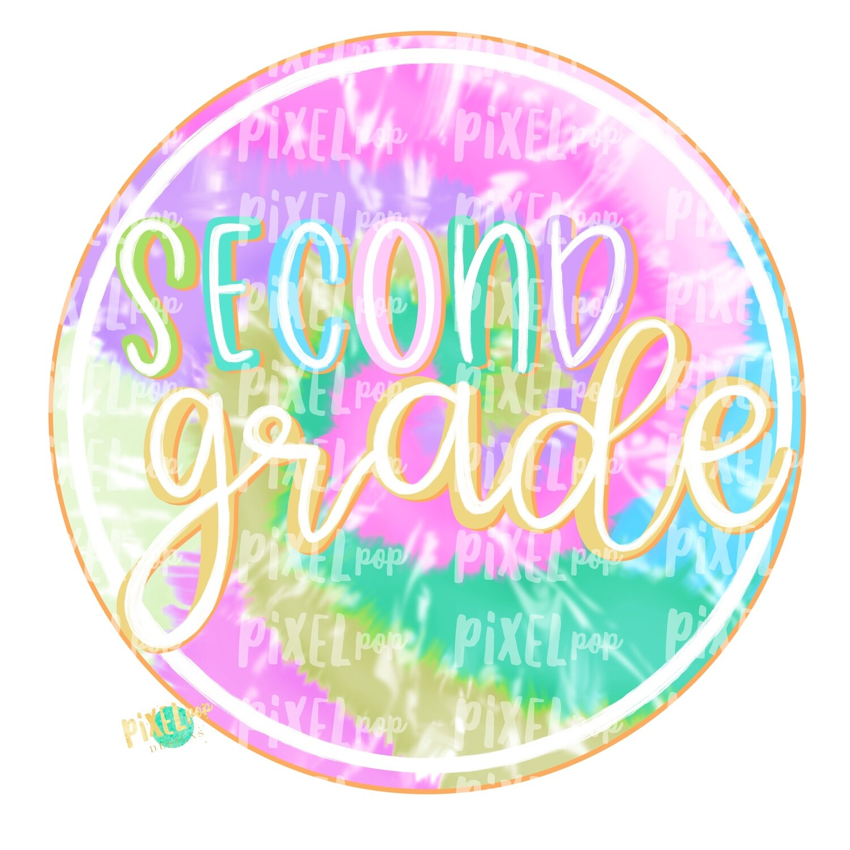 Second Grade Tie Dye PNG Design | School Design | Sublimation | Digital Art | Hand Painted | Digital Download | Printable Artwork | Art