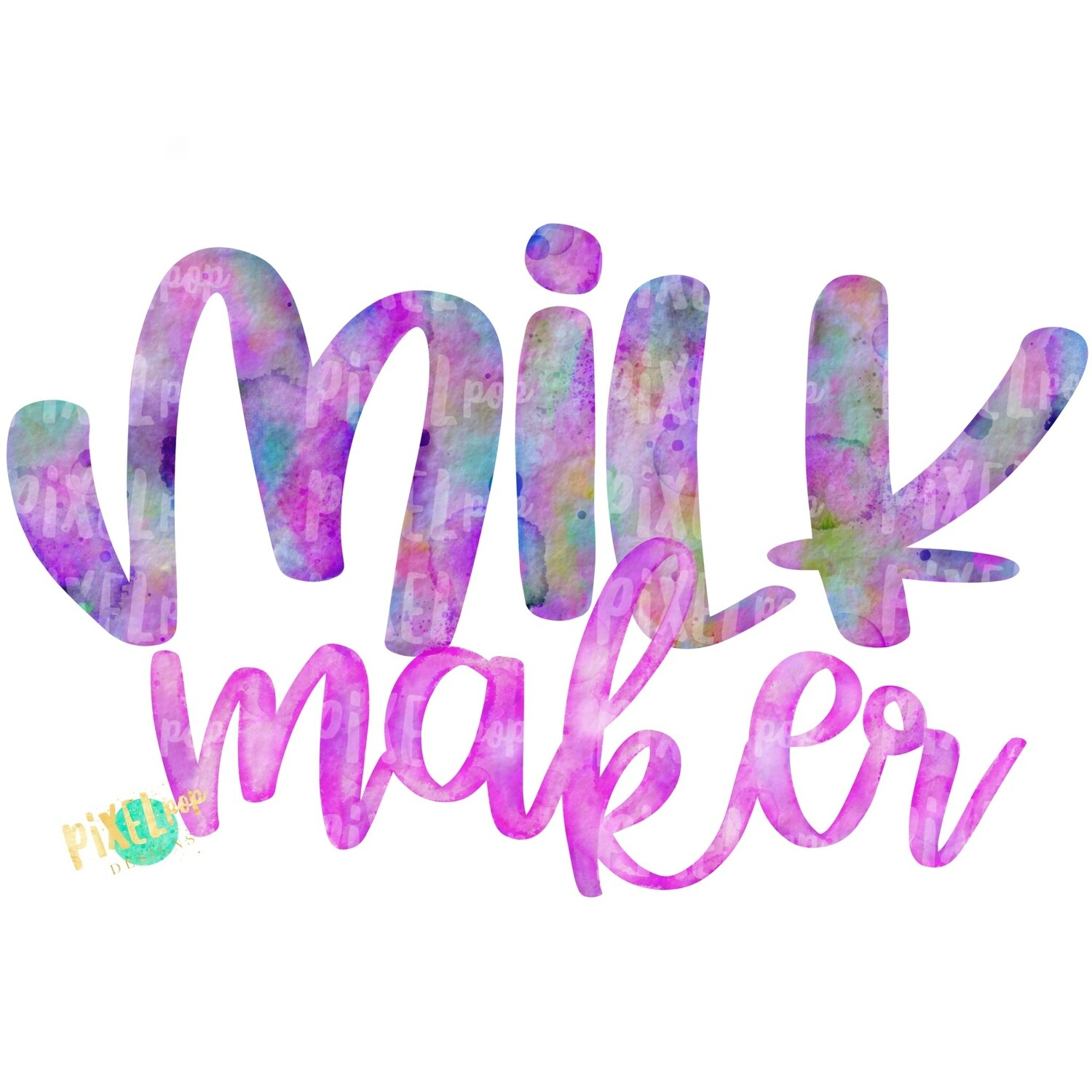 Milk Maker Pink Breastfeeding PNG | Breastfeeding Design | Sublimation Design | Hand Painted Watercolor PNG | Digital Download | Mother's Day