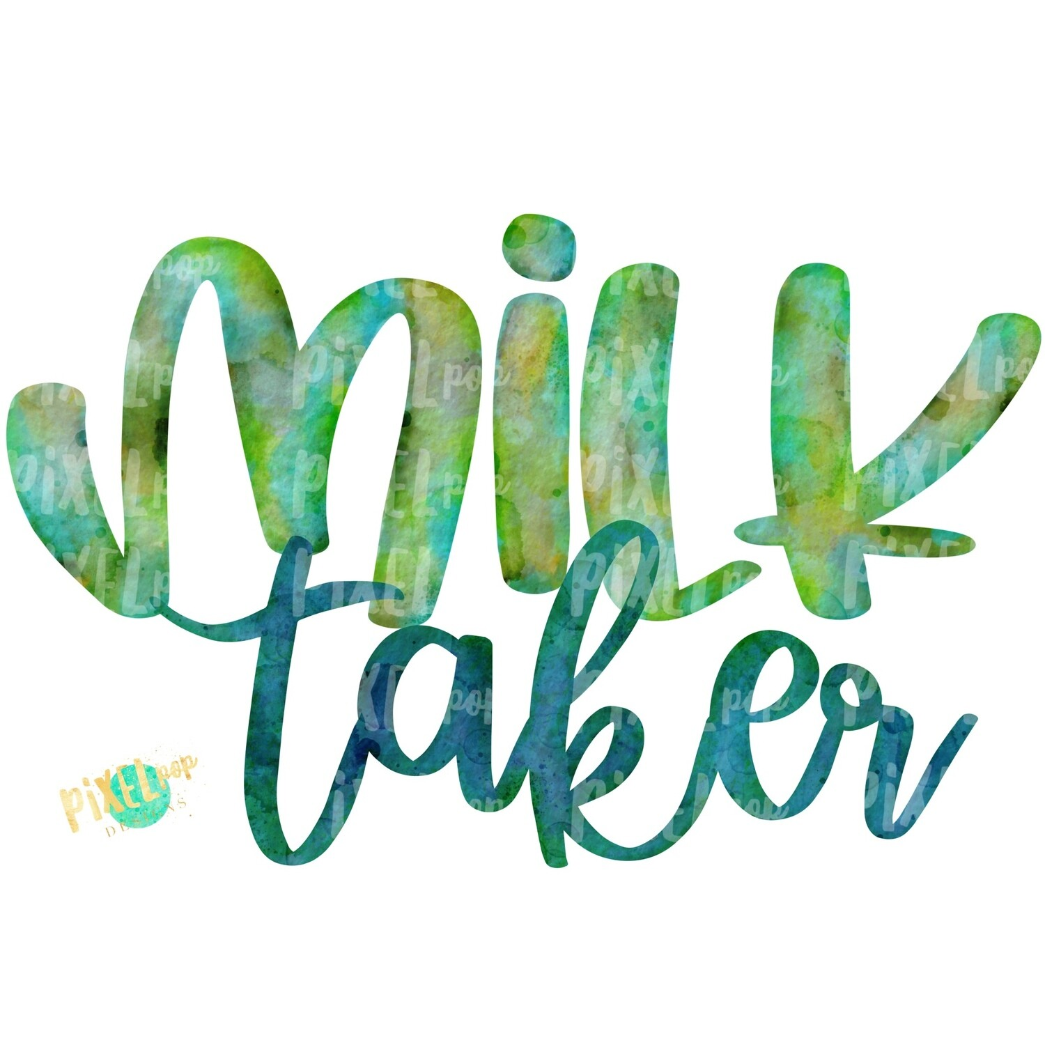 Milk Taker Green Breastfeeding PNG | Breastfeeding Design | Sublimation Design | Hand Painted Watercolor PNG | Digital Download | Mother's Day