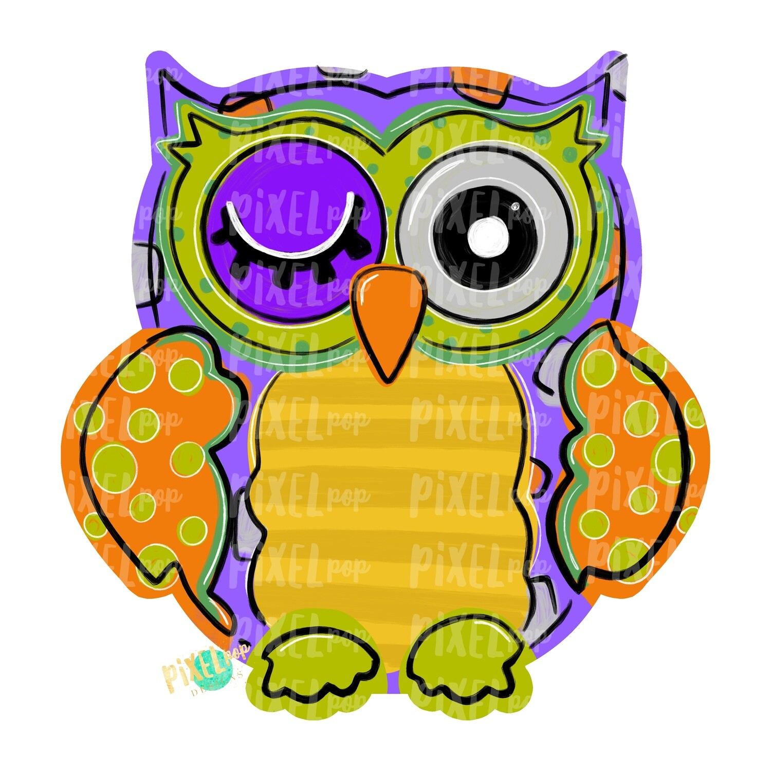 Halloween Owl Blank PNG | Owl Sublimation | Owl Design | Hand Painted Digital Art | Owl | Printable Art | Digital Download | Printable | Art