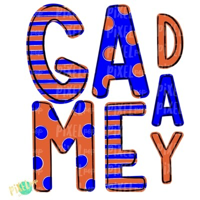 Game Day Blue Orange PNG | Spirit Sublimation Design | School Spirit | Game Day Design | School Clip Art | Sports Design