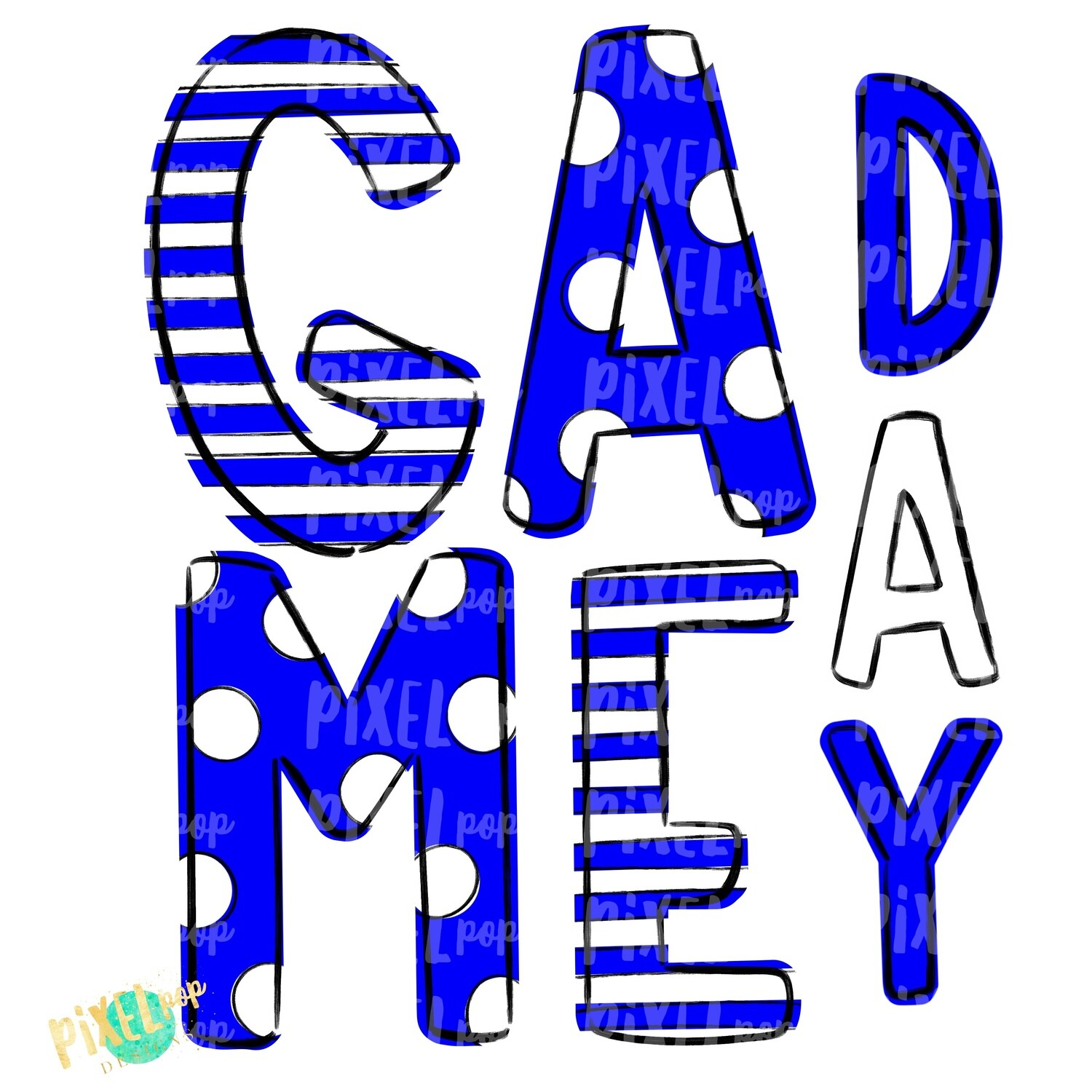 Game Day Blue White PNG | Spirit Sublimation Design | School Spirit | Game Day Design | School Clip Art | Sports Design