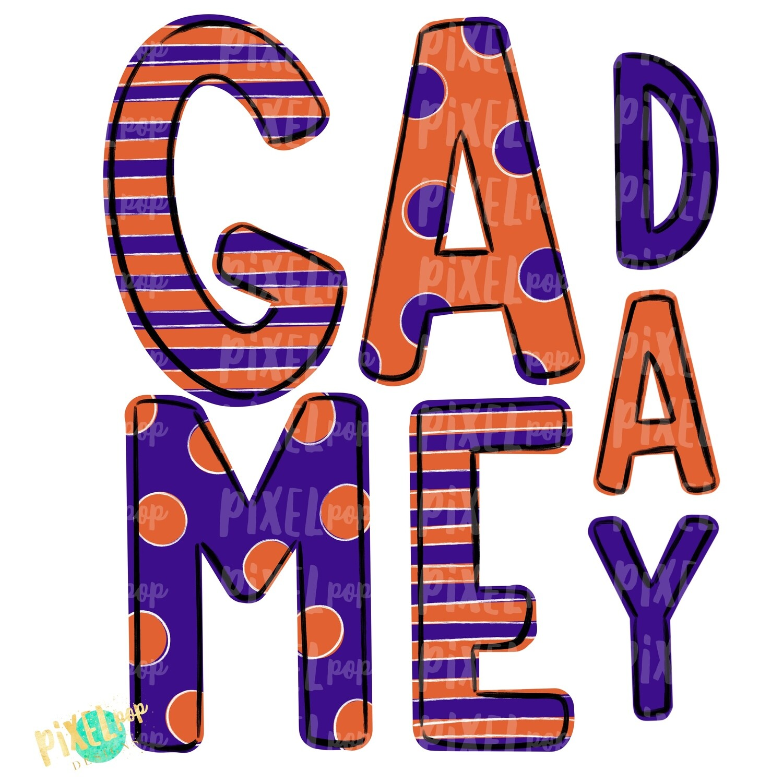 Game Day Purple Orange PNG | Spirit Sublimation Design | School Spirit | Game Day Design | School Clip Art | Sports Design