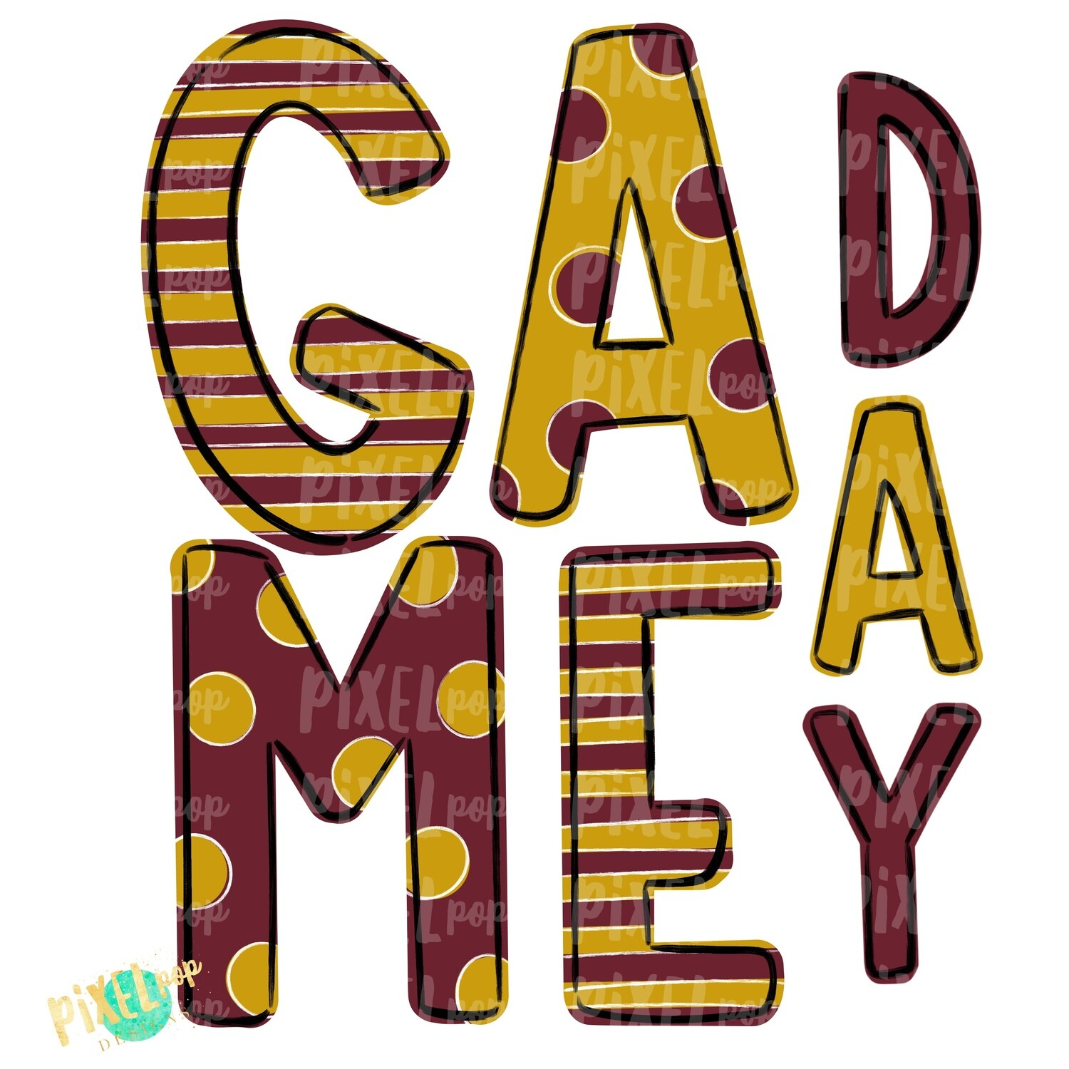 Game Day Maroon Gold PNG | Spirit Sublimation Design | School Spirit | Game Day Design | School Clip Art | Sports Design