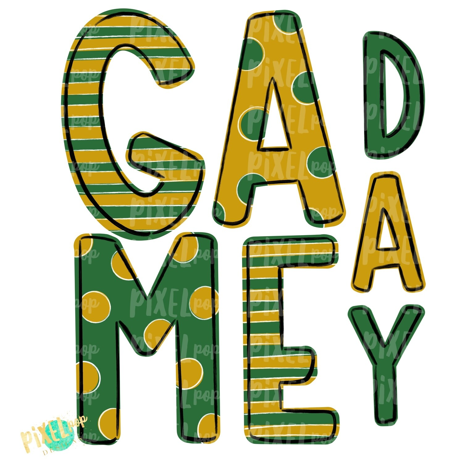 Game Day Green Gold PNG | Spirit Sublimation Design | School Spirit | Game Day Design | School Clip Art | Sports Design