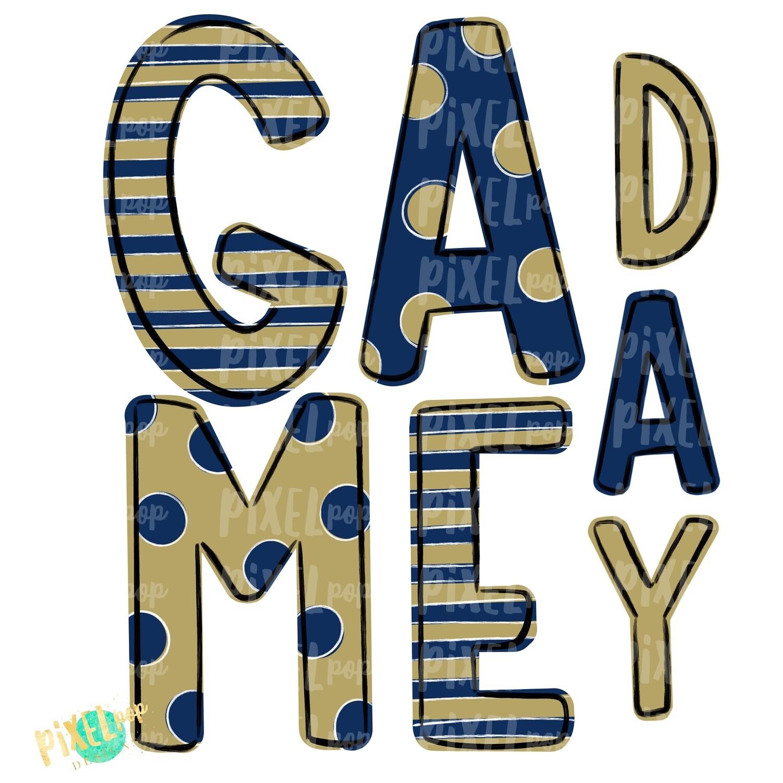 Game Day Navy Vintage Gold PNG | Spirit Sublimation Design | School Spirit | Game Day Design | School Clip Art | Sports Design