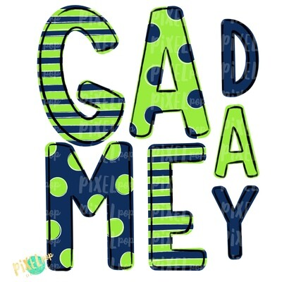 Game Day Navy Lime Green PNG | Spirit Sublimation Design | School Spirit | Game Day Design | School Clip Art | Sports Design