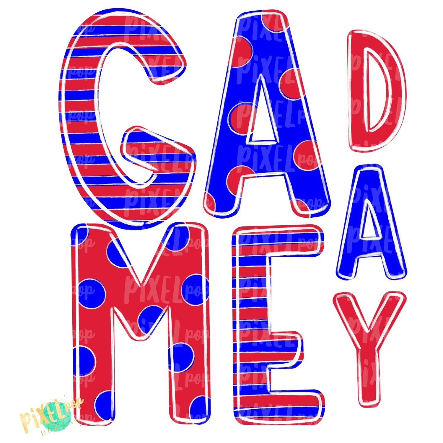 Game Day Red White Blue PNG | Spirit Sublimation Design | School Spirit | Game Day Design | School Clip Art | Sports Design
