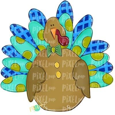 Large Boy Turkey PNG | Turkey Sublimation | Painted Digital Art | Sublimation Art | Thanksgiving | Digital Download | Printable Artwork