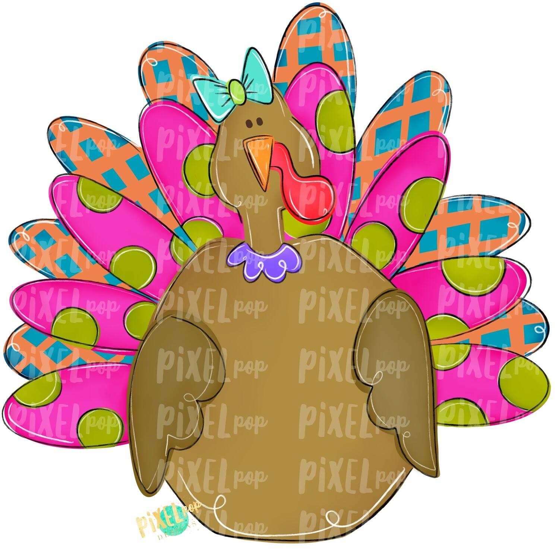 Large Girl Turkey PNG | Turkey Sublimation | Painted Digital Art | Sublimation Art | Thanksgiving | Digital Download | Printable Artwork