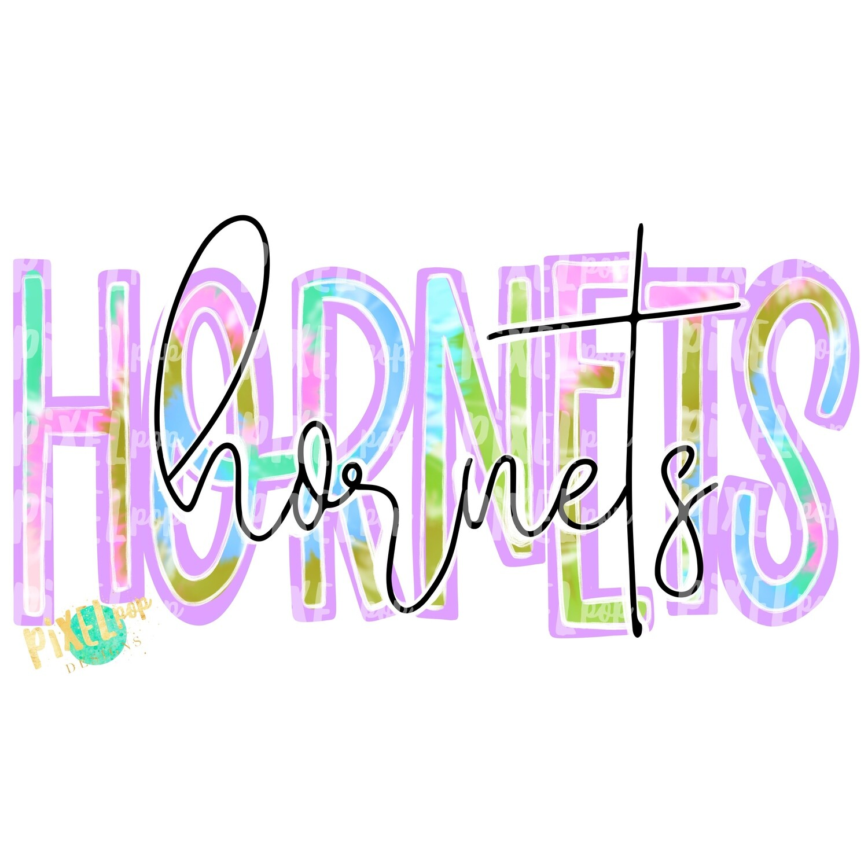 Hornets Tie Dye Mascot PNG | Cardinals Sublimation Design | Team Spirit Design | Cardinals Clip Art | Digital Download | Printable Artwork
