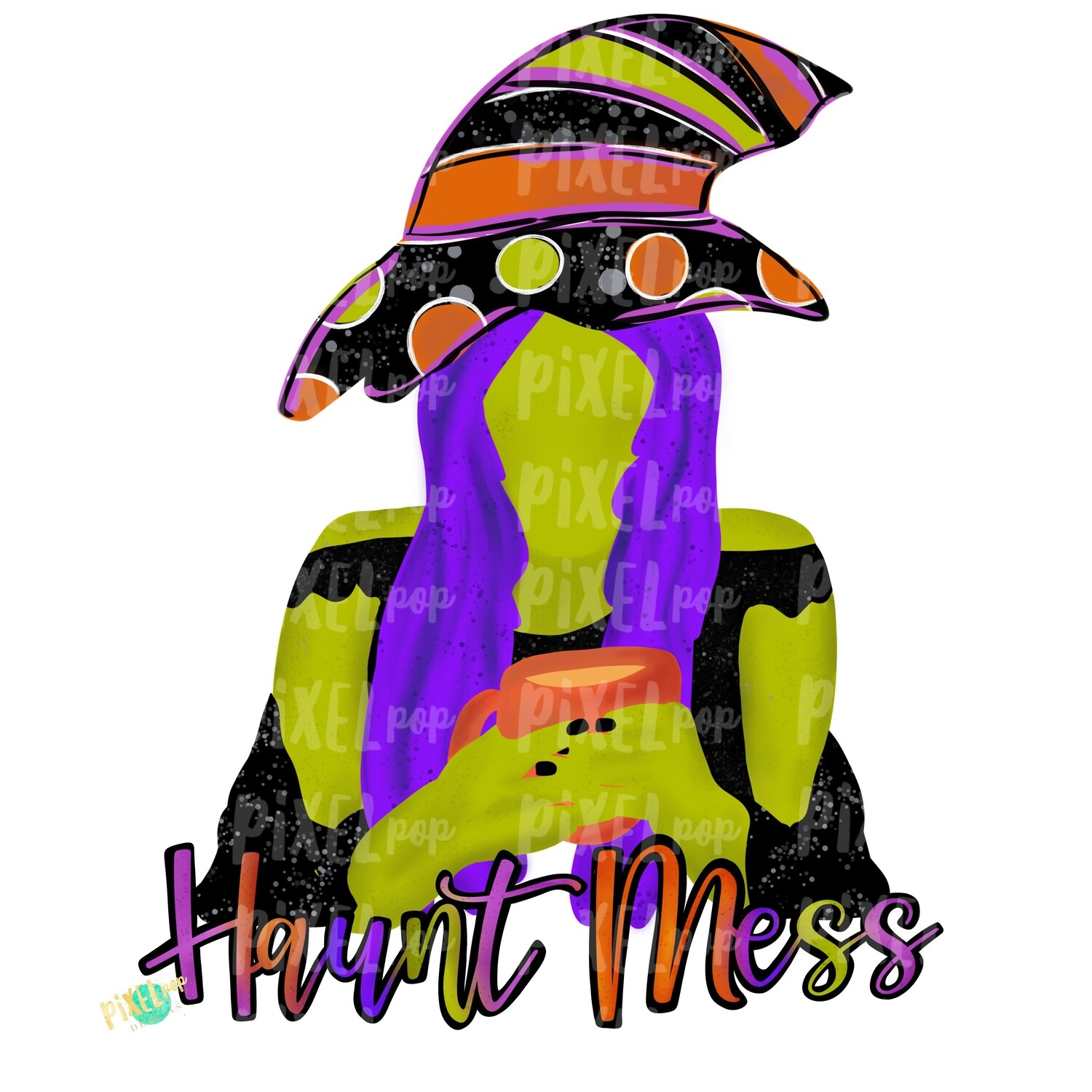 Haunt Mess Halloween Witch PNG | Sublimation | Halloween Design | Digital Art | Sublimation PNG | Digital Download | Printable Artwork | Art