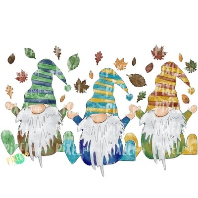 Fall Autumn Gnomes PNG | Fall Design | Happy Fall | Gnome Design Art | Sublimation PNG | Digital Art | Fall Clip Art | Fall Sublimation