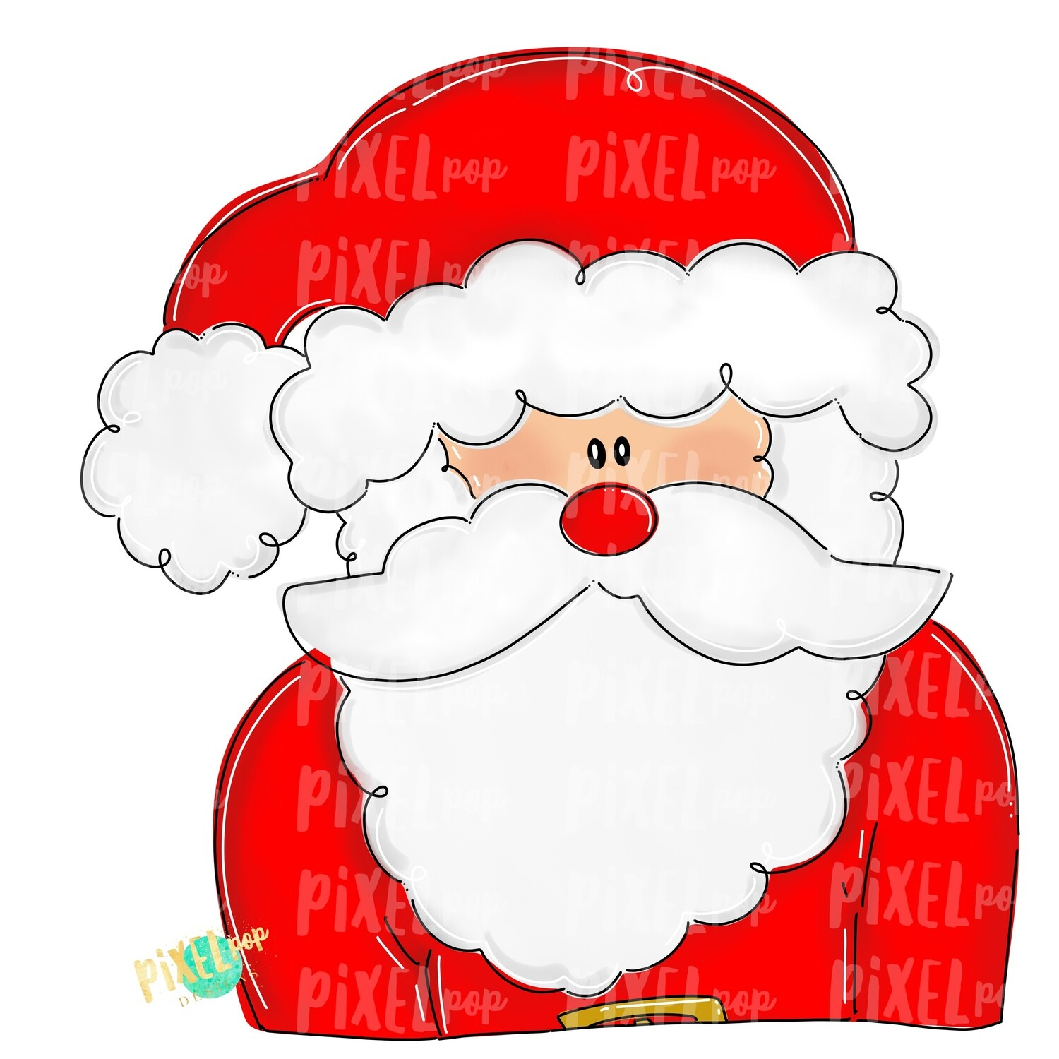 Whimsical Santa Claus PNG | Christmas Sublimation Design | Santa | Santa Clip Art | Christmas | Digital Download | Printable Artwork | Art