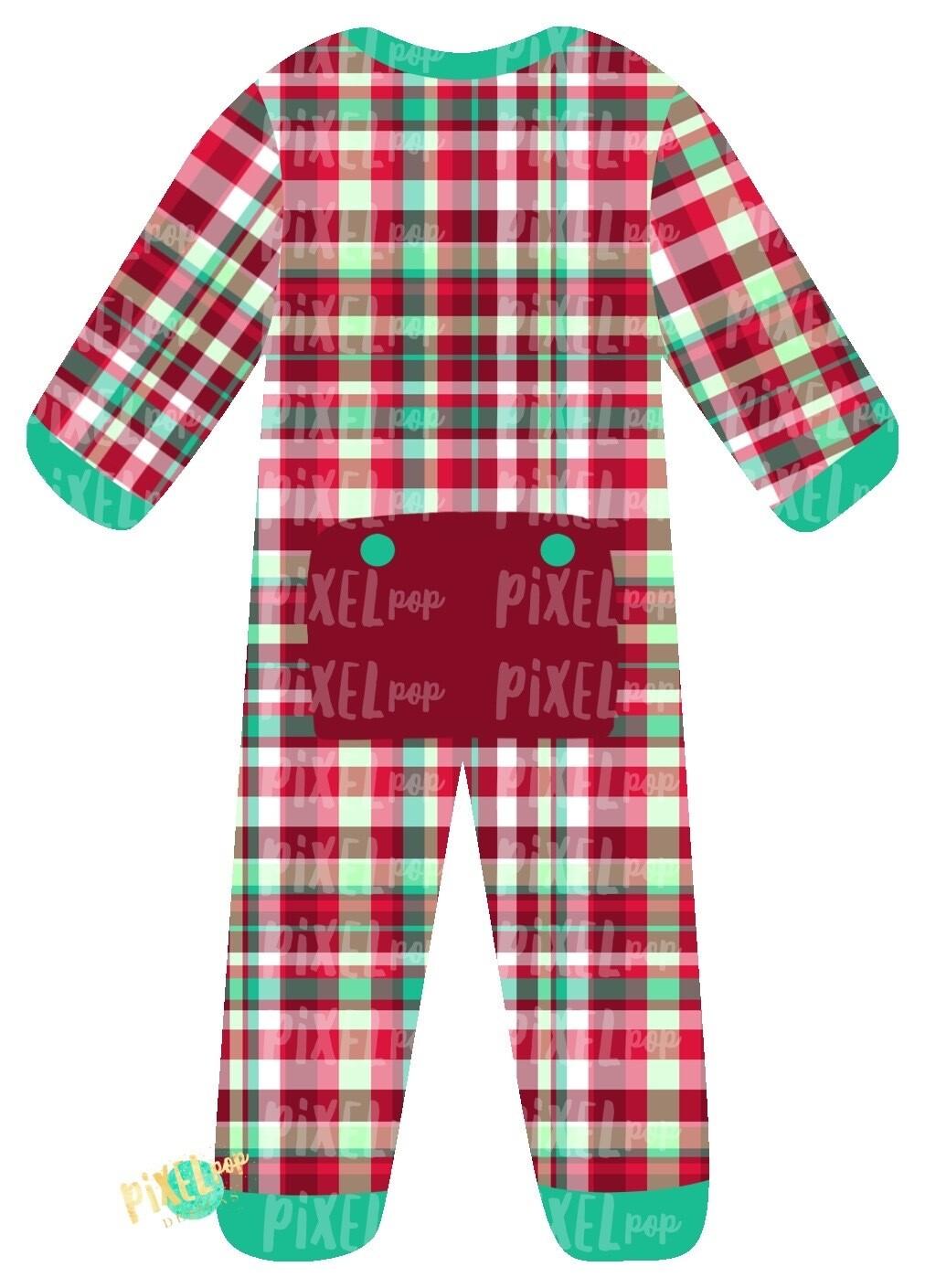 Christmas Plaid Bum Flap Pajama Ornament PNG | Christmas Pajama PNG | Christmas Pajamas Sublimation | Christmas Art | Christmas Clipart