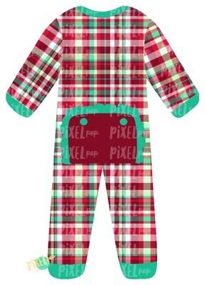 Christmas Plaid RUFFLED Bum Flap Pajama Ornament PNG | Christmas Pajama PNG | Christmas Pajamas Sublimation | Christmas | Christmas Clipart