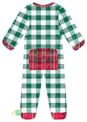 Green Plaid  Bum Flap Pajama Ornament PNG | Christmas Pajama PNG | Christmas Pajamas Sublimation | Christmas | Christmas Clipart