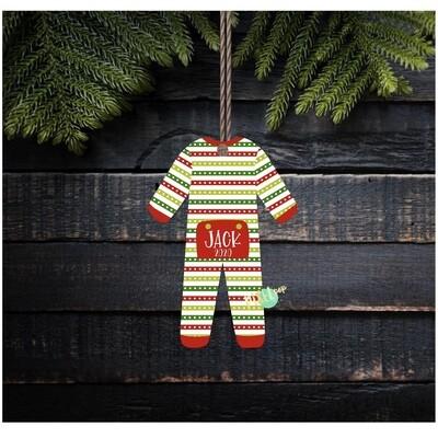 Striped Christmas Bum Flap Pajama Ornament PNG | Christmas Pajama PNG | Christmas Pajamas Sublimation | Christmas | Christmas Clipart