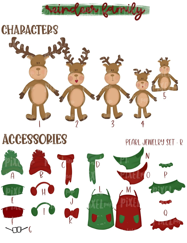 Reindeer Family Set Order Form