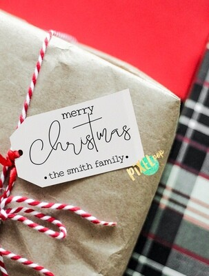 Custom DIY Printable Gift Tags - Simple + Clean