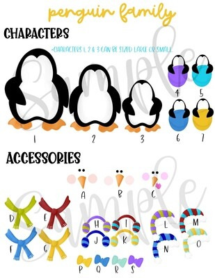 Penguin Family Set Order Form