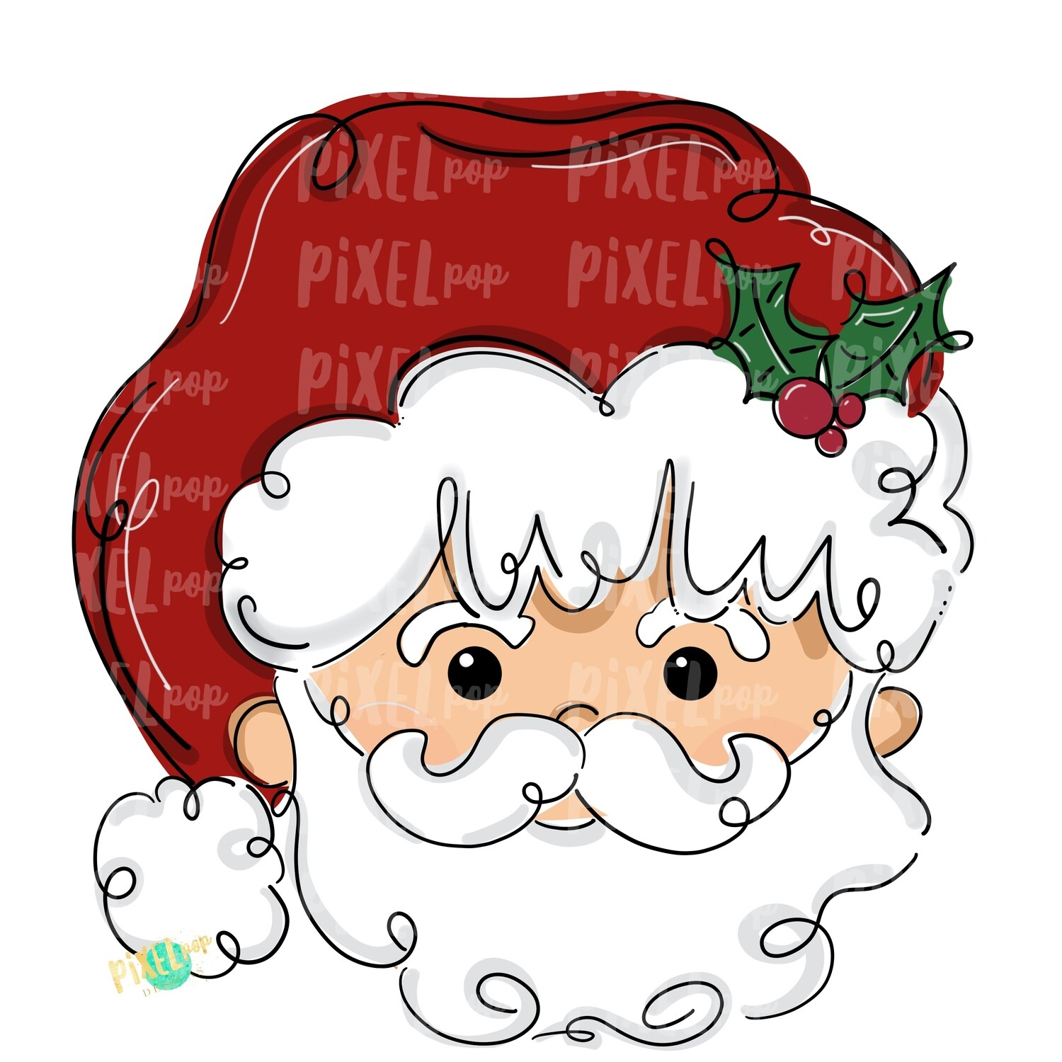 Simple Santa Claus PNG | Christmas Sublimation Design | Santa | Santa Clip Art | Christmas | Digital Download | Printable Artwork | Art