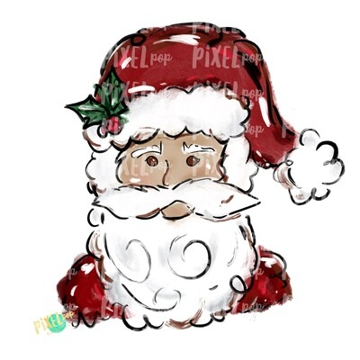 Texture Painted Santa Claus PNG | Santa PNG | Christmas Sublimation | Santa | Santa Art | Christmas | Digital Download | Printable Artwork