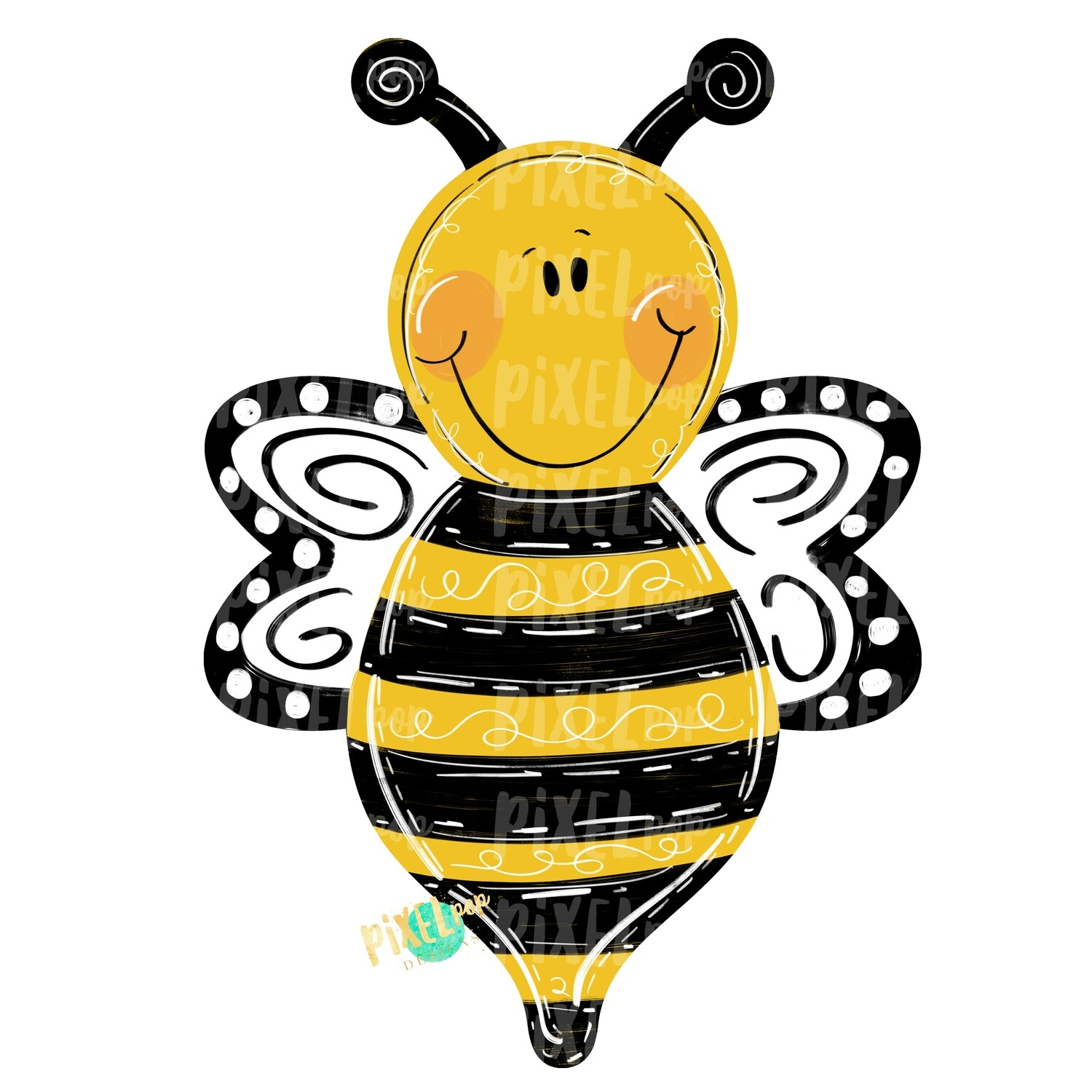 Bee PNG | Sublimation Design | Hand Painted Design | Woodland Design | Animal Art | Bee Design | Bee Clip Art | Bee Digital | Animal Art
