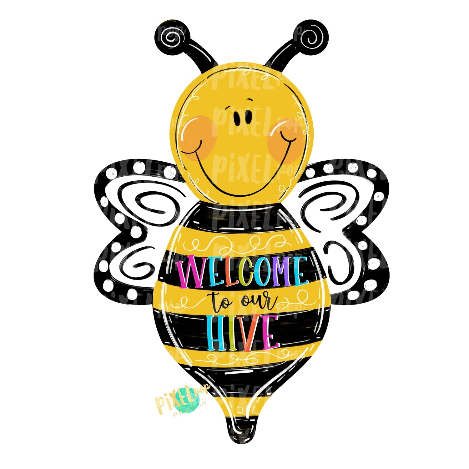 Welcome to Our Hive Bee PNG | Sublimation Design | Hand Painted Design | Animal Art | Bee Design | Bee Clip Art | Bee Digital | Animal Art