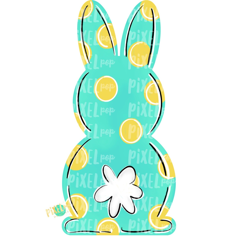 Bunny Back Aqua Easter PNG   Easter Bunny   Easter   Rabbit   Hop   Bunny PNG   Bunny Design   Bunny Tail   Easter Design   Easter PNG