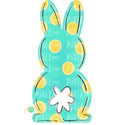 Bunny Back Aqua Easter PNG | Easter Bunny | Easter | Rabbit | Hop | Bunny PNG | Bunny Design | Bunny Tail | Easter Design | Easter PNG