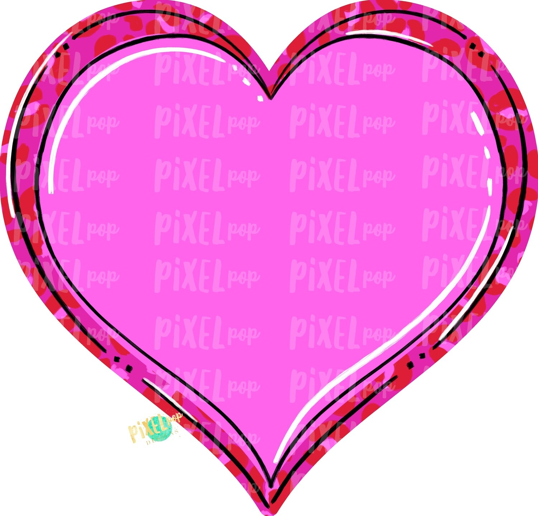 Leopard Print Heart PNG | Valentine's Day | Leopard Print Hearts | Love | Leopard Hearts | Hand Painted Art | Digital Design | Printable Art