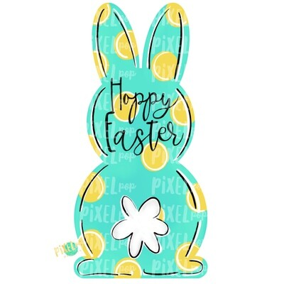 Bunny Back Aqua Hoppy Easter PNG | Bunny | Bunny PNG | Bunny Design | Bunny Tail Easter | Rabbit | Rabbit Tail| Easter Design | Easter PNG